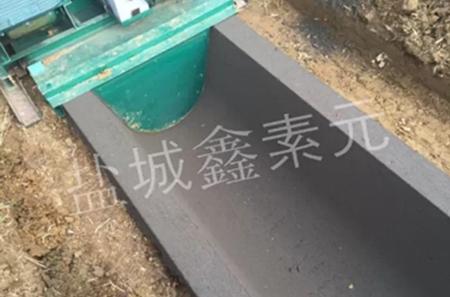 江西宜春市丰城市荣唐镇客户混凝土u型槽施工现场